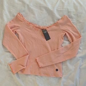 NWT Abercrombie & Fitch long sleeve crop top